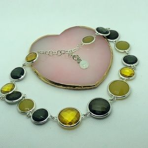 1976 Translucent Gold Beaded Color Fall Necklace